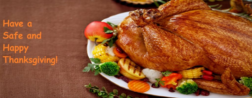 Thanksgiving Message with Turkey